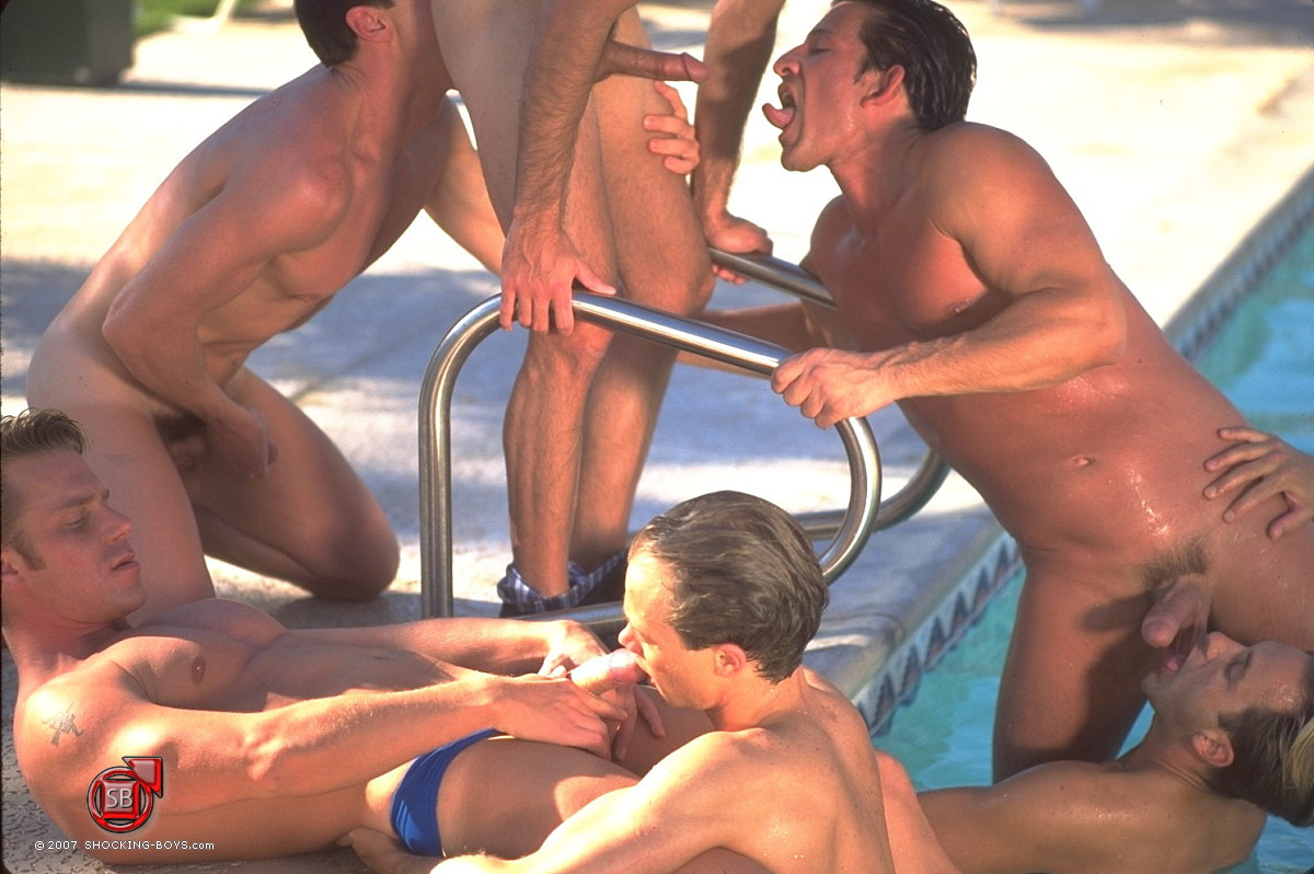 Gay male gang bang porn